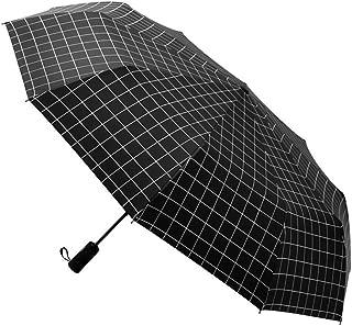 AIZBO Outdoor Windproof Travel Umbrella Anti UV Sun/Rain Folding Portable Plaid Umbrella Manual Opens/Closes Sun Parasol