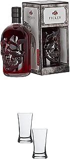 Ficken Pirat Jostabeerenlikör 0,5 Liter  Stölzle Shotglas/Stamper 2 Stück 2050021