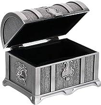 Bciou Metalen Vintage Sieraden Doos/borst Woondecoratie zonder Lock Ring Oorbellen Case
