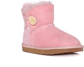 Kids UGG Boots - Child Mini Button, Australian Sheepskin, Non-Slip