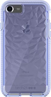 Tech21 Evo Gem Drop Proof Protective Case for iPhone 8 / iPhone 7 / iPhone 6 - Ultra Thin Clear Back,  Anti-Scratch - Lilac - Bulk Packaging