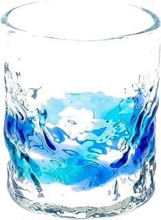 でこロックグラス 青/水色