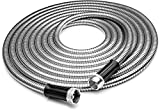 Tiabo Metal Garden Hose 75ft 304 Stainless Steel Super Flexible Cool to The Touch All...