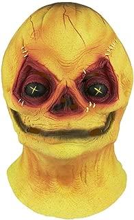 Trippy Lights Trick R Treat Sam The Demon Pumpkinhead Halloween Costume Adult Mask Orange Yellow