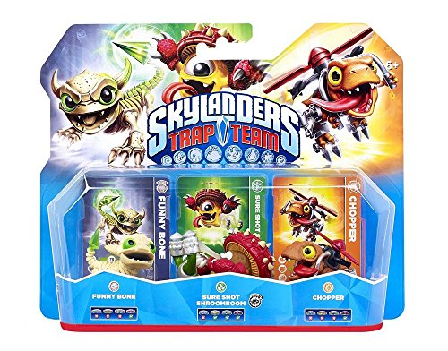 Skylanders Trap Team - Triple Pack - Chopper, Funny Bone, Shroomboom