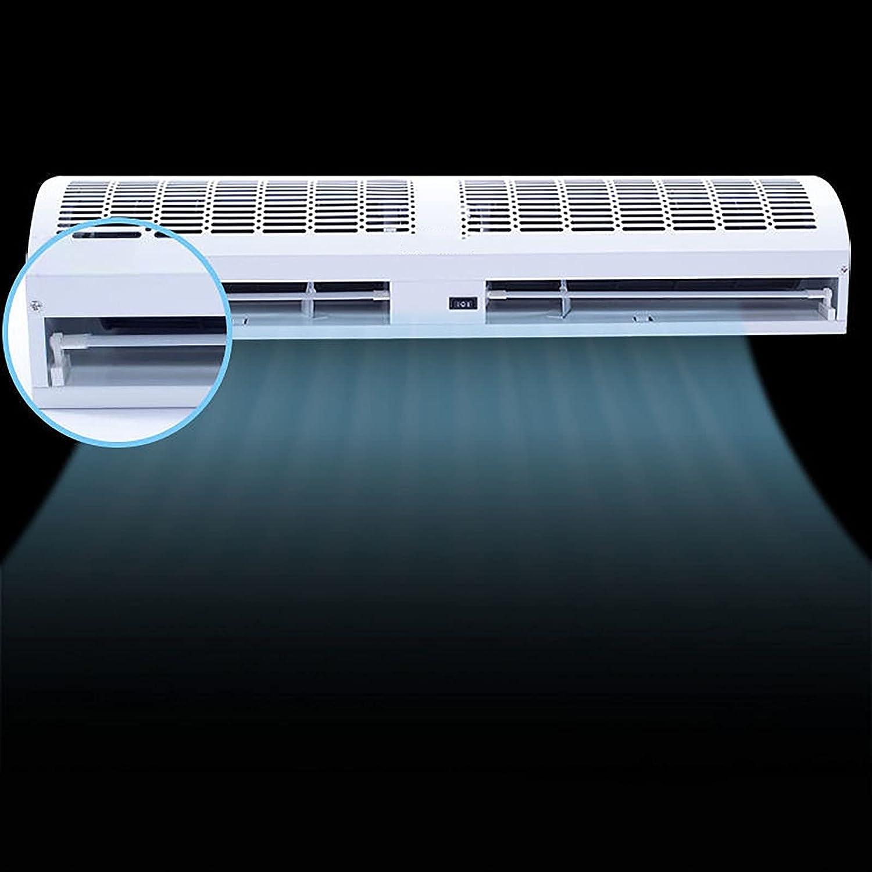 SMYH Cortina de Aire Blanca Ajustable de 2 velocidades, Cortina de Aire frío con Control Remoto e Interruptor de botón, Limpieza Desmontable, fácil de Instalar, hogar Comercial Industrial