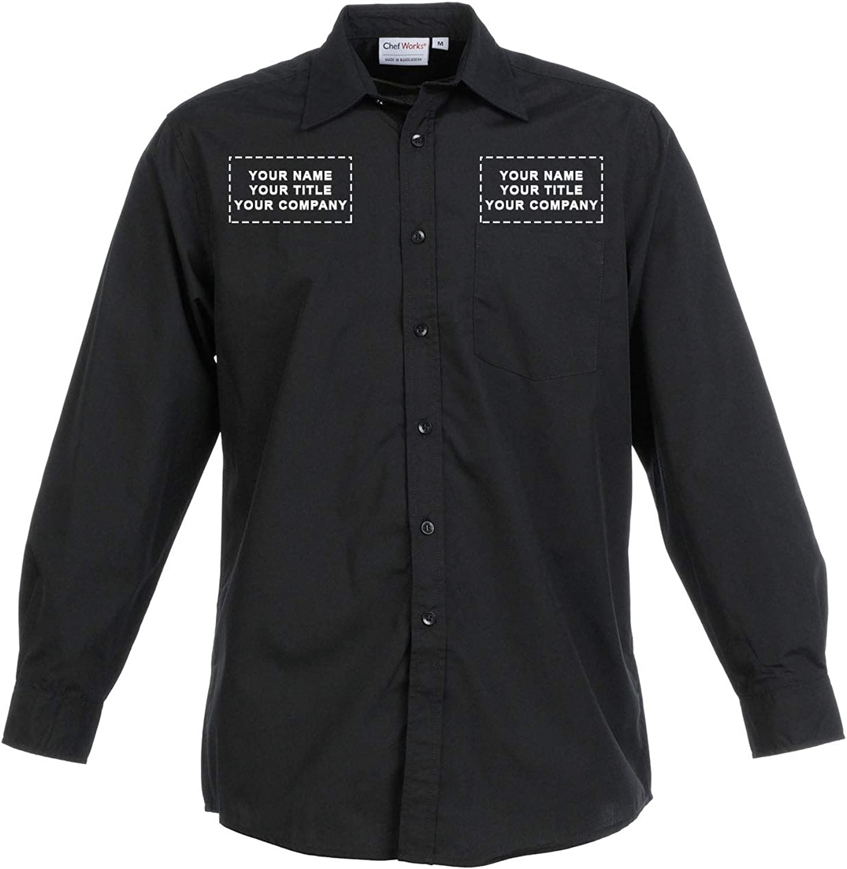 Chef Works Custom Embroidered Mens Basic Dress Shirt