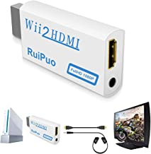 WII to HDMI Converter, RuiPuo WII to HDMI Adapter Support All Wii Display Modes Video with Audio Output (Wii2HDMI)