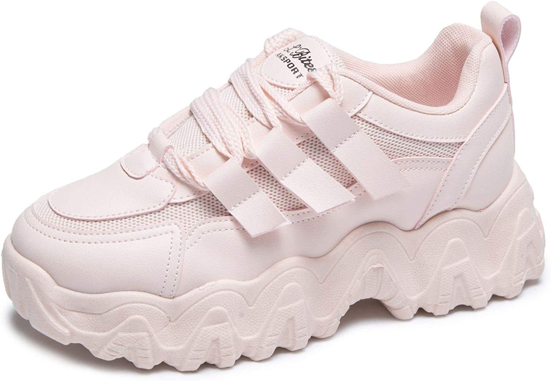 MALAXD Women's Platform Casual Mesh Sneakers Road Running Joggin