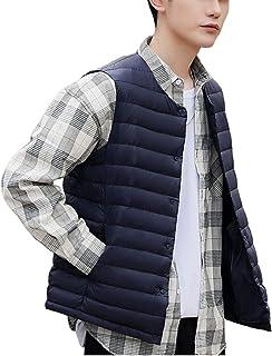 TieNew Men's Outdoor Gilet, Men Down Vests Gilet Lightweight V Neck Warmer Winter Waistcoat Jacket