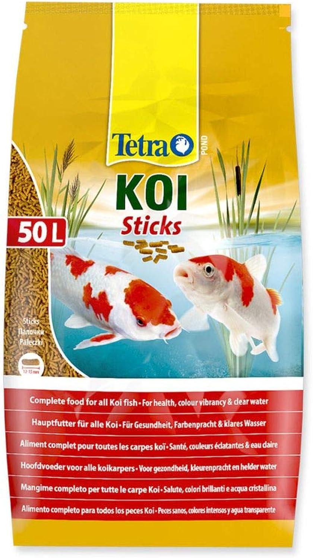 Pet's House 7.5kg 50 litre TETRA POND KOI STICKS FLOATING FISH FOOD DAILY SUMMER COLOUR DIET