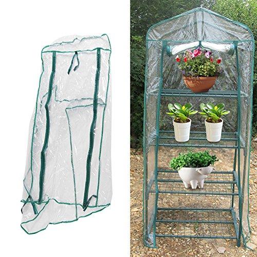 69 x 49 x 160 cm Garten Mini Gewächshaus Warmes wasserdichtes Anti-UV-Gewächshaus Blumenpflanzen Leicht zu bewegende Gartenarbeit im Freien für Terrasse, Rasen & Garten