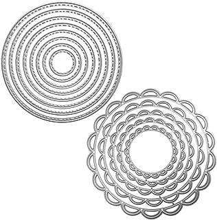 Lot de 2 matrices de coupe Pochoir en métal Modèle de moules, FineGood Outil de gaufrage pour la création de cartes Scrapb...