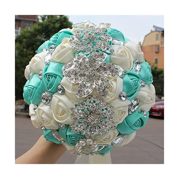 FYSTORE Bride Bouquet Crystal Wedding Rhinestone Brooch Bouquets Brides Hand Holding