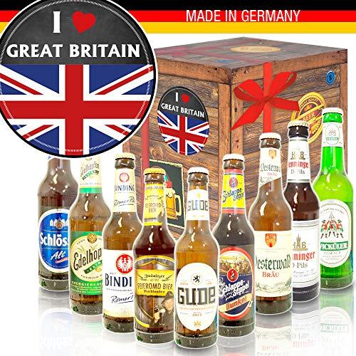 I love Great Britain/Geschenkset England/Bier aus Deutschland