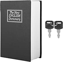 Book Safe Box with 2 Keys, Black English Dictionary Safe Box Money Jewelry Collection Storage Case, Book Safe Lock Box