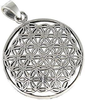 Flower world Fleur de Vie Pendentif ge g/éom/étrie sacr/ée Mandala Yoga m/éditation spirituelle Bijoux Bouddha.