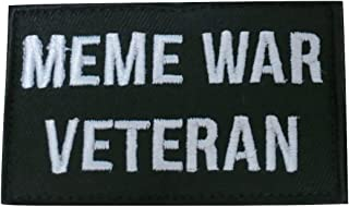 TrendyLuz Meme War Veteran Embroidered Hook & Loop Patch