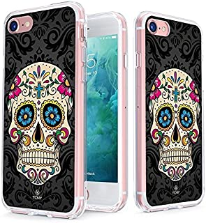 True Color Clear Shield Sugar Skull Collection Sugar Skull on Damask For iPhone 8