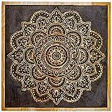 Orientalische Holz Ornament Wanddeko Hand der Hadji 60cm