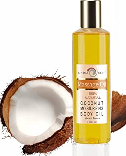100% naturligt Kokosolja Body Massage Oil Mjuk aromolja 200 ml 100% Naturlig Sensuell Druvkärneolja Avslappnande olja