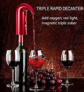 BLUE CHARM Eléctrico Vino Decantador Mejora el Sabor del Vino de Todas Las Edades