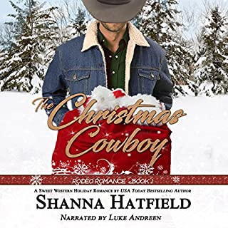 The Christmas Cowboy (Rodeo Romance) audiobook cover art