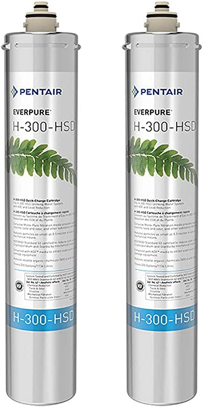 Pentair Everpure H 300 HSD Undersink Water Filter Replacement Cartridge 2 Pack