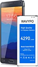 (Upgraded) Galaxy Note 4 Battery 4290 mAh, Wavypo Replacement Battery for Samsung Galaxy Note 4 [N910, N910 UTE, N910A, N910T, N910(Verizon), N910P] Note 4 Spare Battery [36 Months Warranty]