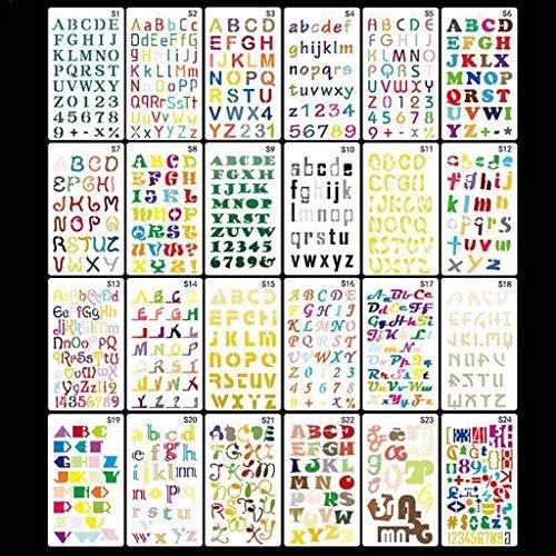 Haptian 24 stks/set Alfabet Letters Tekenen Sjabloon Schilderij Embossing Scrapbook