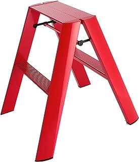 Hasegawa Ladders  Lucano Stepladder, 2 Step, Red