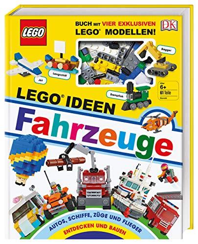 LEGO® Ideen Fahrzeuge: Buch mit vier exklusiven LEGO® Modellen. Autos, Schiffe, Züge und Flieger entdecken und bauen