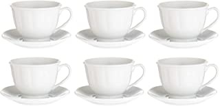 Harmony Cup and Saucer Set, 180 ml - 12 Pieces, White