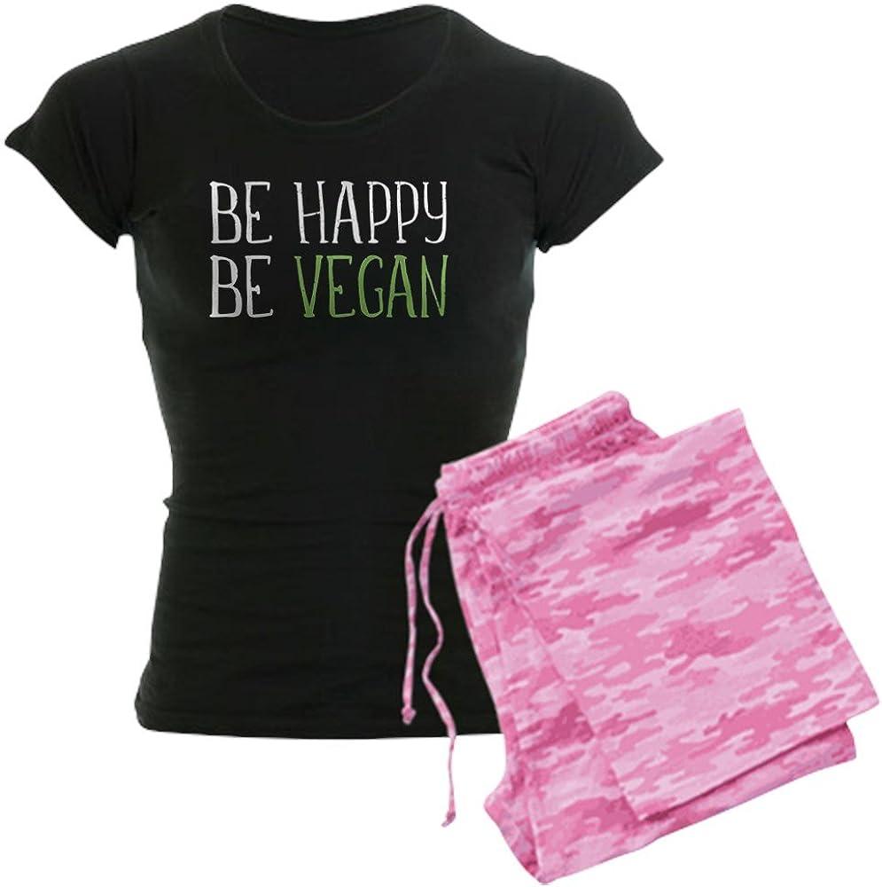 CafePress Be Happy Max 56% Elegant OFF Women's Vegan PJs