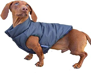 DJANGO Puffer Dog Jacket and Reversible Cold Weather Dog Coat with Full Coverage and Windproof Protection