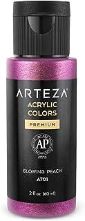 Arteza Iridescent Acrylic Paint R2 Glowing Peach , 60 ml Bottle, Chameleon Colors, High Viscosity Shimmer Paint, Water-Bas...