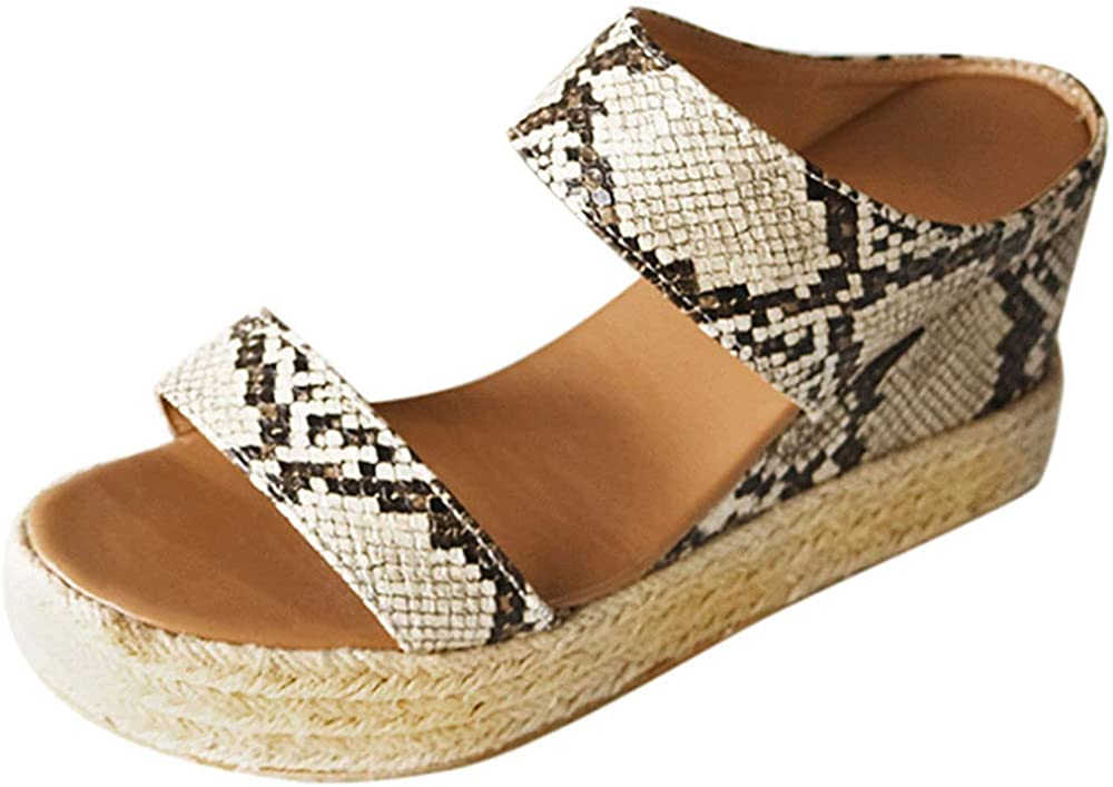 SAILING LU Band Espadrille Slides Womens Sandals Summer High Hee