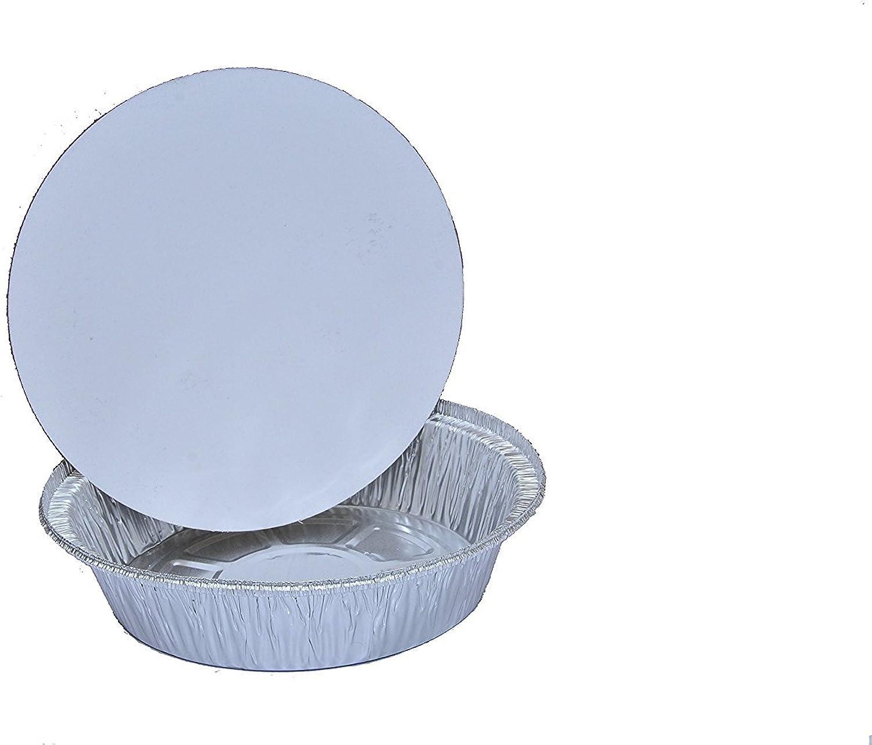 Handi-foil B00B03ZW5E Round Pan Container with Lid, 7 inch-200 per case, Silver