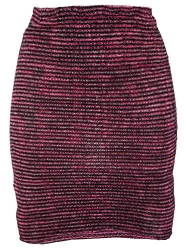 GURU SHOP Minirock, Strickrock, Ethnorock, Damen, Beere/schwarz, Baumwolle, Size:36, Röcke/Kurz Alternative Bekleidung