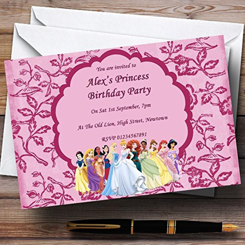 Pink Princess Theme Personalised Birthday Party Invitations   Invites & Envelopes