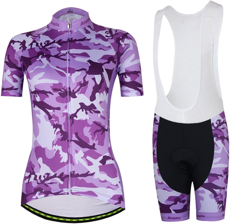 Aogda Cycling Jerseys Women Biking Shirts Bike Clothing Bicycle Shorts