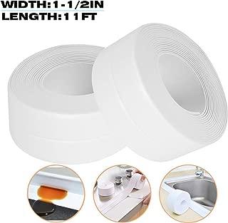 TYLife Tub CaulkingTape,Self Adhesive Waterproof Sealing BathtubCaulk Strips for Kitchen Countertop Bathroom Shower Toilet Sink Gas Stove Wall Corner 1-1/2