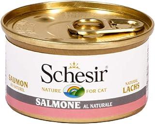 Schesir Comida Húmeda para Gato Salmón al Natural - Paquete de 14 x 85 gr - Total: 1190 gr