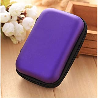 Ocamo Storage Bag Travel Organizer Case Box for Digital Gadgets USB Cable Earphone Accessorries Purple