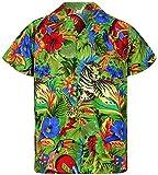 V.H.O. Funky Camisa Hawaiana, Jungle, Green, 3XL