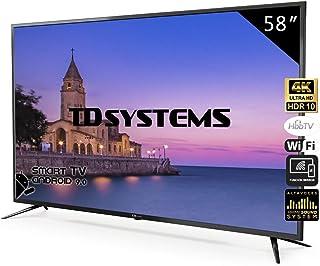 Televisores Smart TV 58 Pulgadas 4K / Android 9.0 / Hbbtv /
