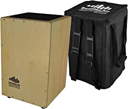 Echoslap Siam Oak Super Snare Cajon - Hand Tested, Siam Oak Body, Maple Frontplate Plus Free Gig Bag