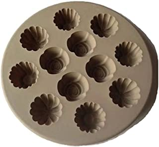 Cupcake Flower Floral Shape Liners Nonstick Pan Silicone Bakeware Muffin Ice Cream Mold Pampered Chef