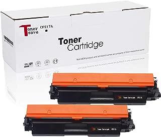 Tonersave CF217A HP 17A Toner Cartridge for HP Laserjet Pro MFP M130fw M130nw M130fn M130a HP Laserjet Pro M102w M102a Printer 2 Pack