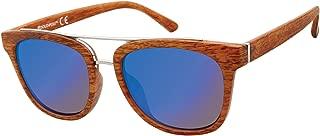 Southpole Men's 5000sp Tnwd Non-polarized Iridium Aviator Sunglasses, Tan Wood, 60 mm